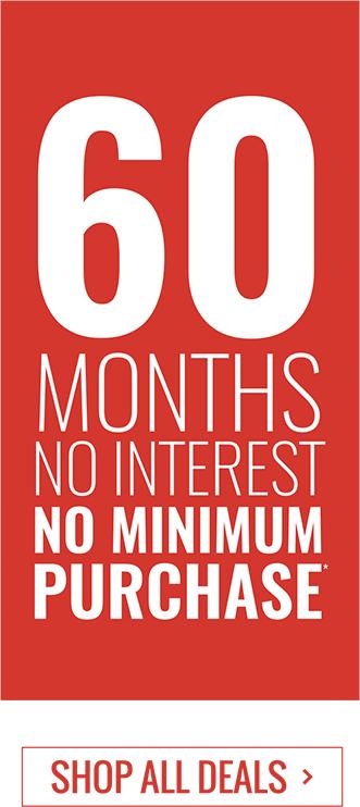 60 Months No Interest No Minimum Purchase